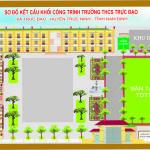 Sơ đồ kết cấu khối công trình Trường THCS Trực Đạo